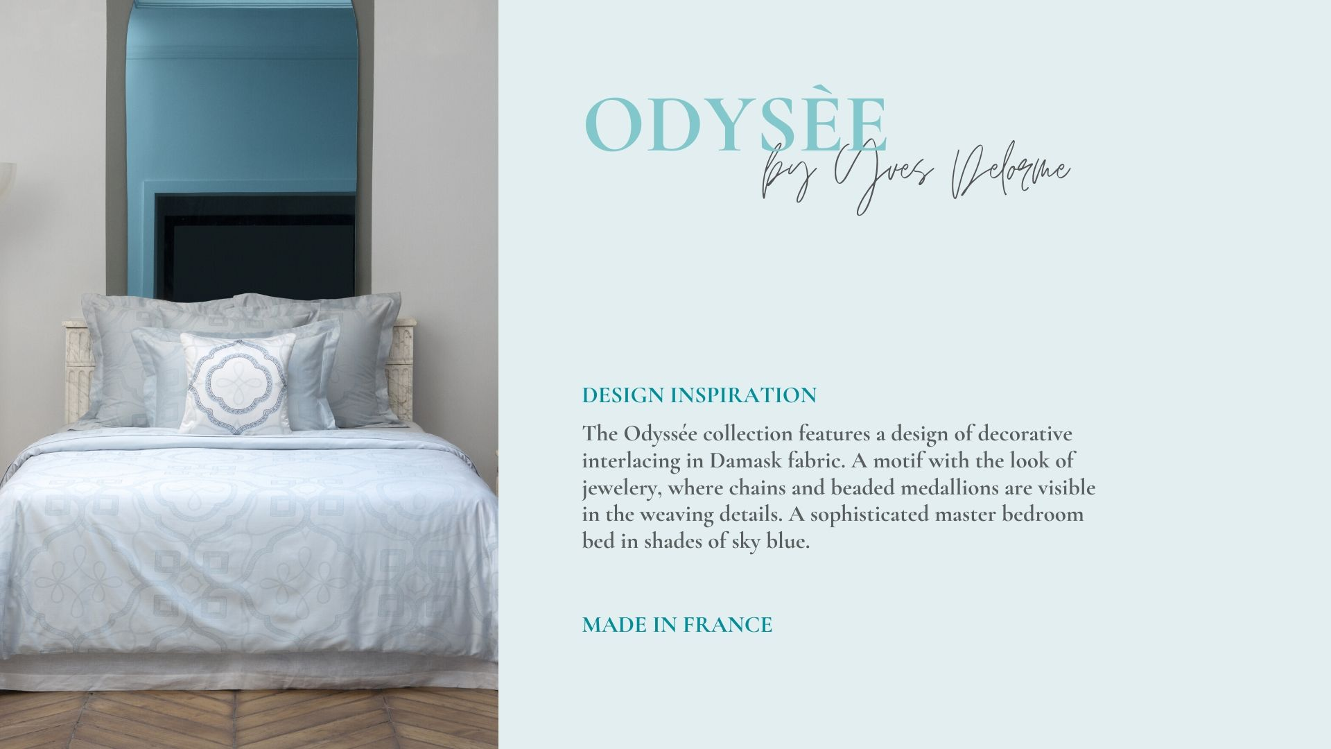 Odyssee Jacquard Duvet Cover and Shams Made by Yves Delorme