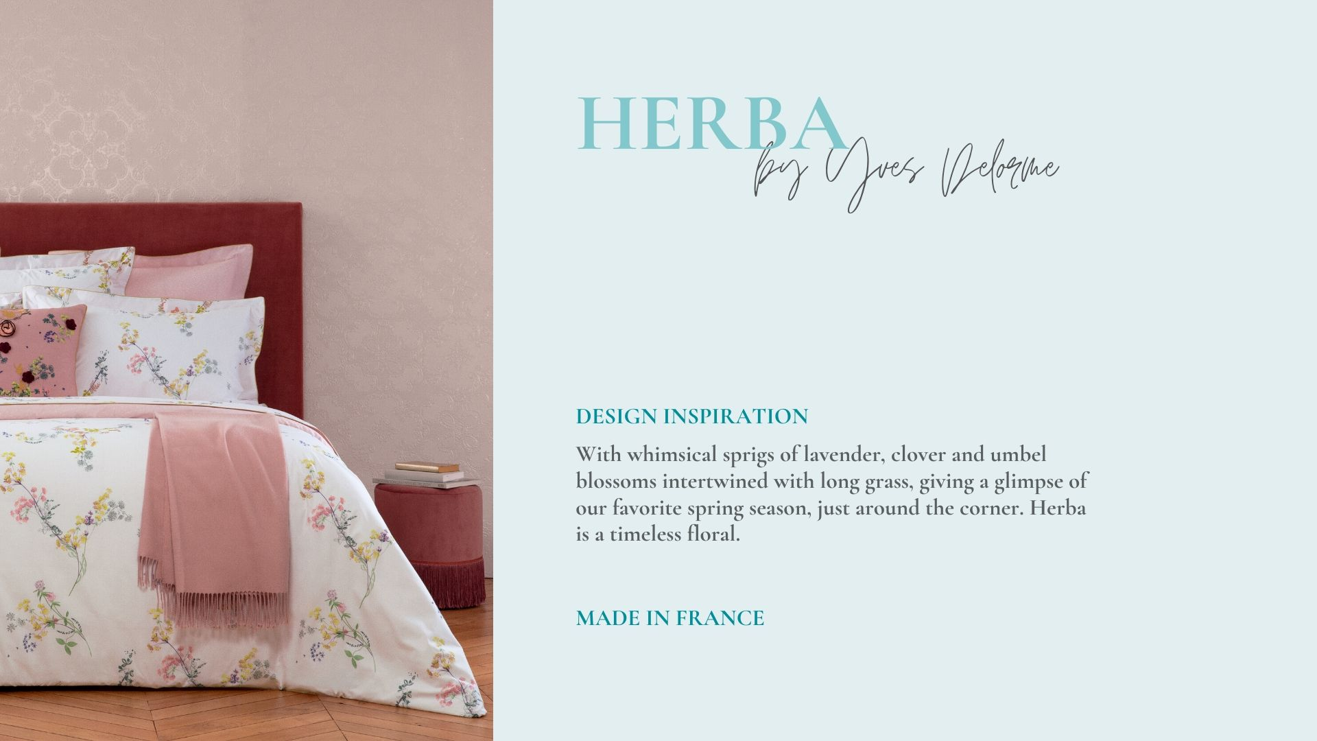Fine French Floral Bedding by Yves Delorme