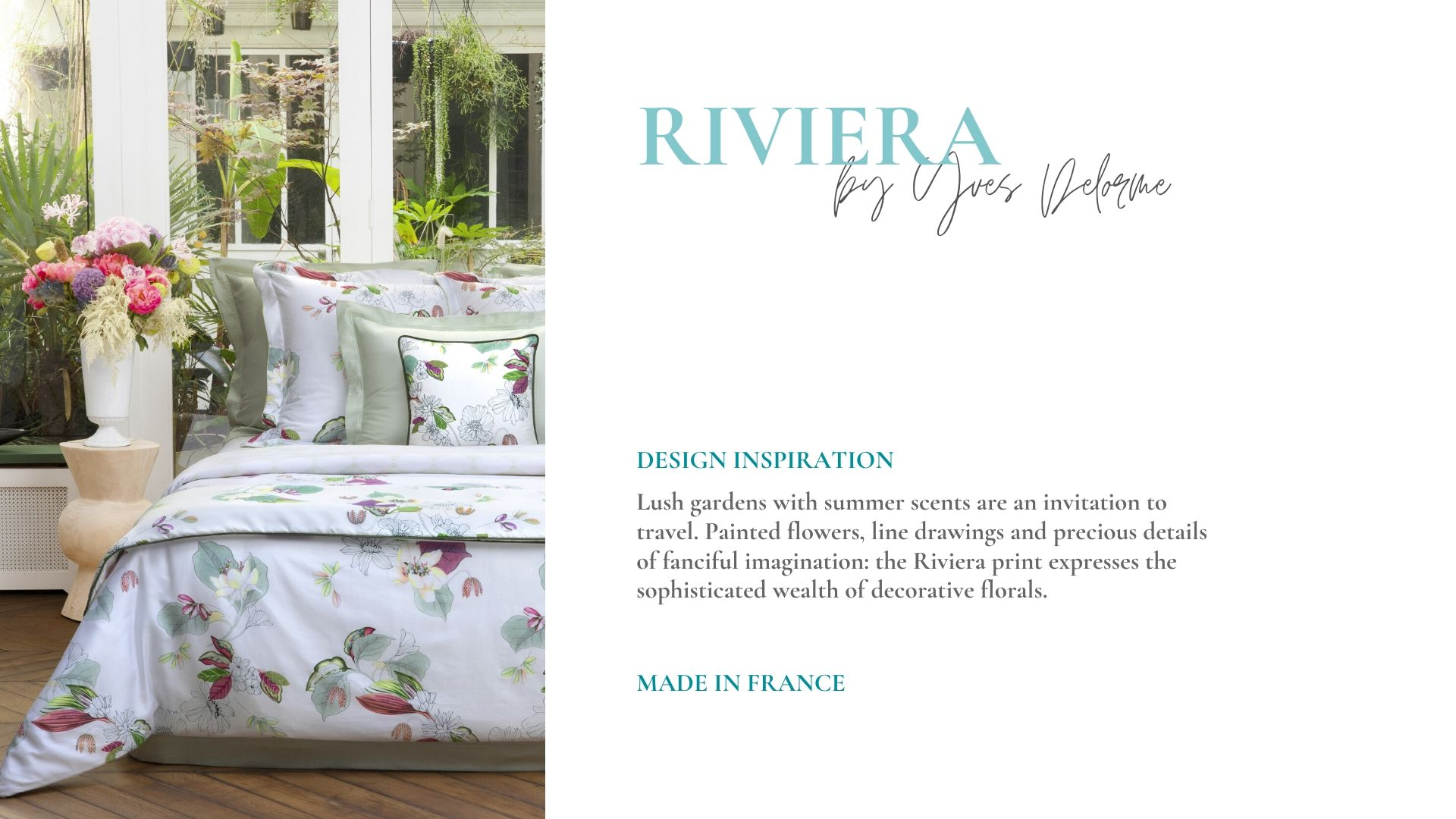 Riviera Floral Duvet Cover by Yves Delorme