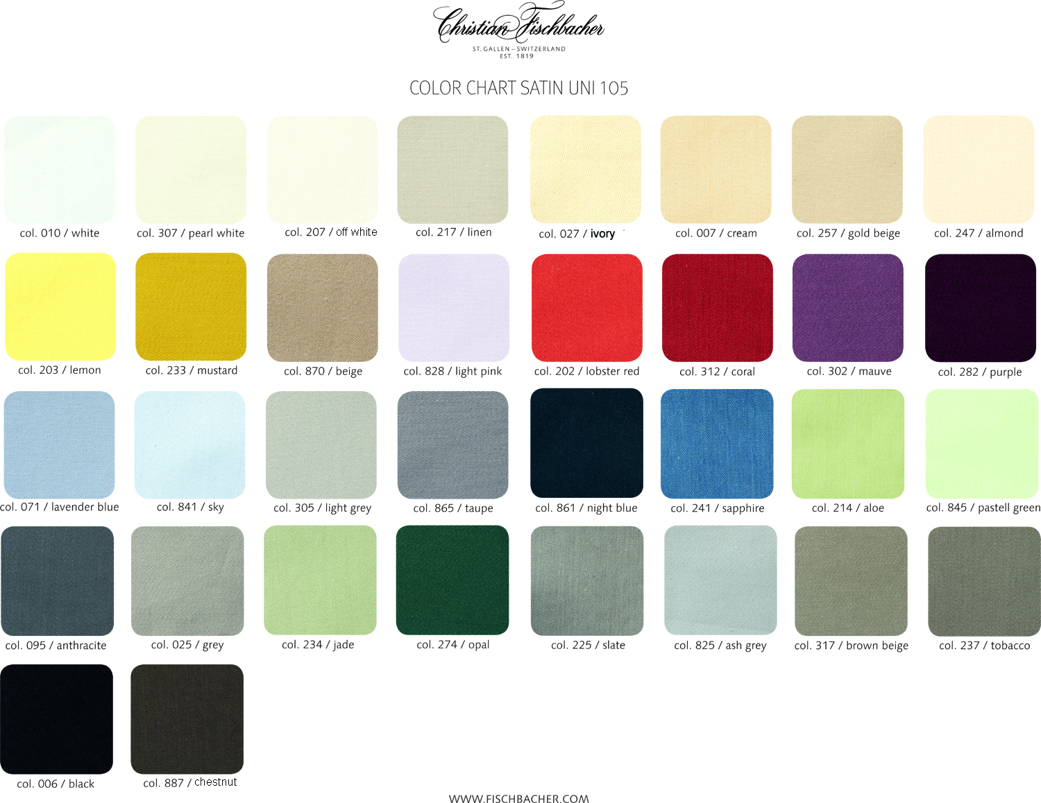 Christian Fischbacher Sateen 105 Colors