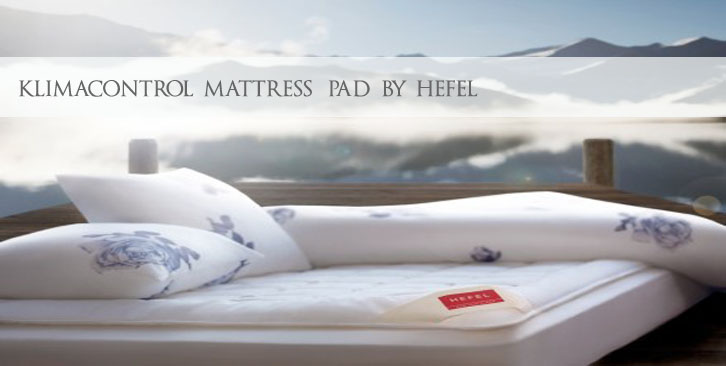 Luxe Mattress Pads by Hefel Made in Austria
