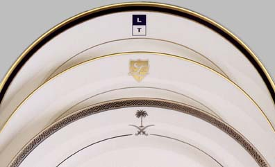 Custom Logo Dinnerware & Custom Yacht Dinnerware | Custom Logo China for Yacht or Private Jet