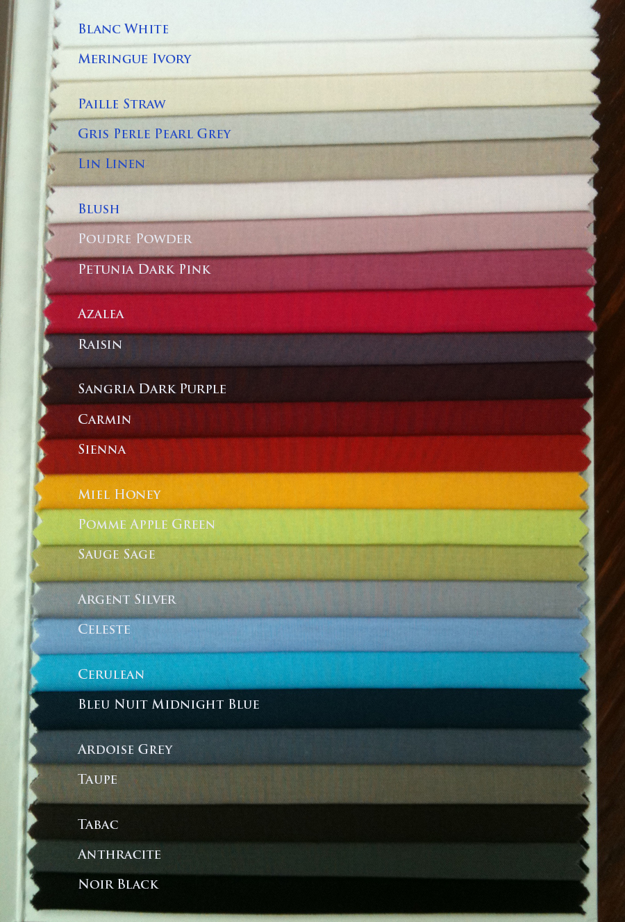 Essix Percale Colors