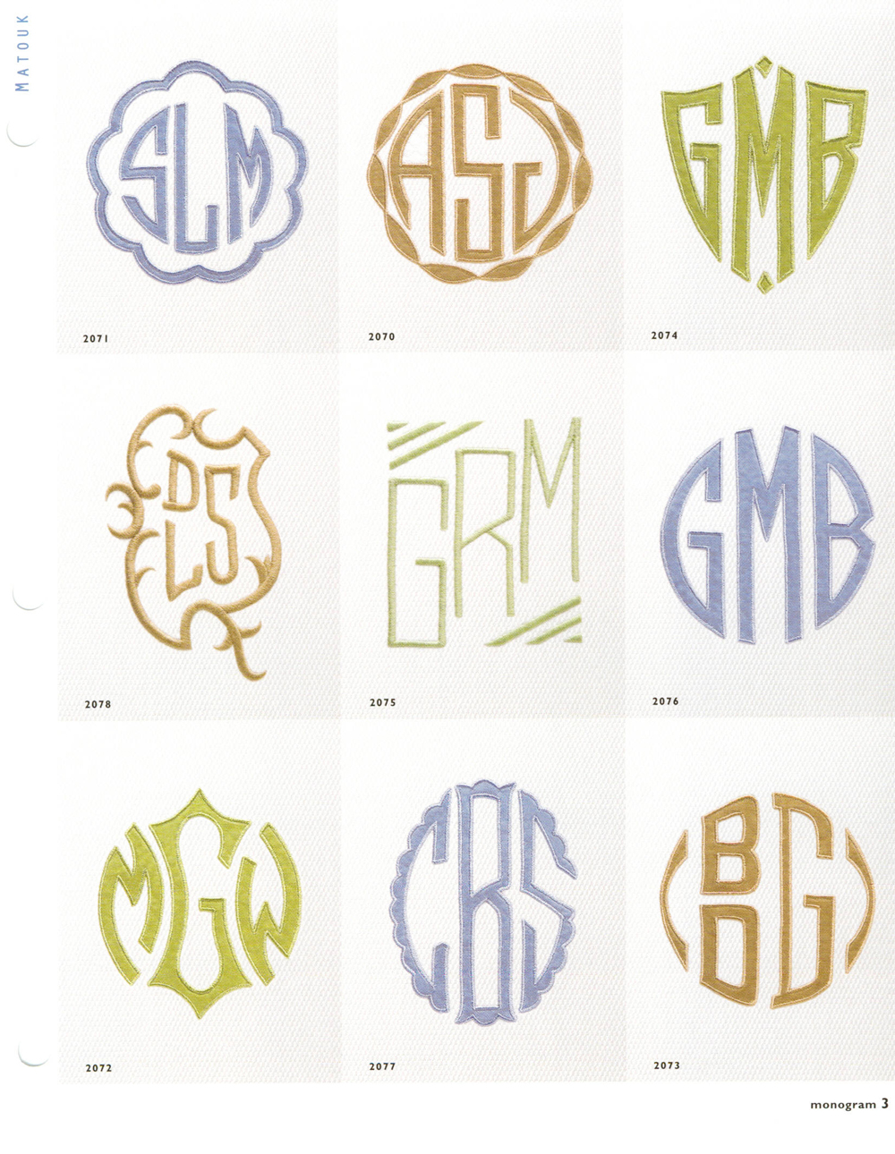 Matouk monogram styles aiko luxury linens for Monogram homes