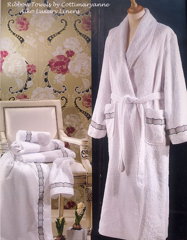 Cottimaryanne Ribbon Embroidered Towels