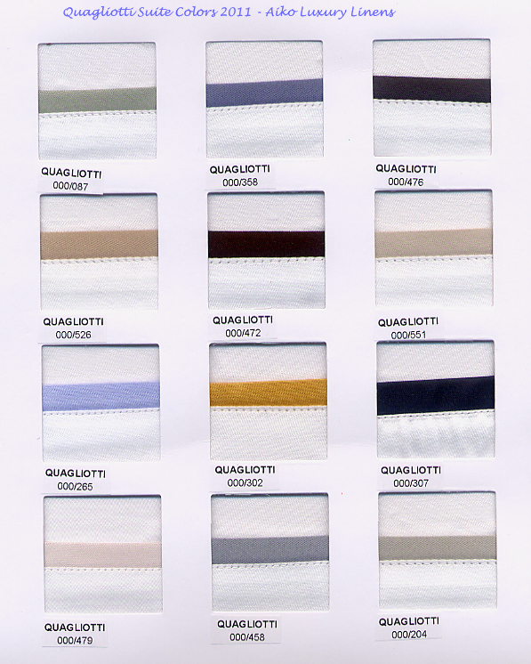 Quagliotti Suite Bedding Colors